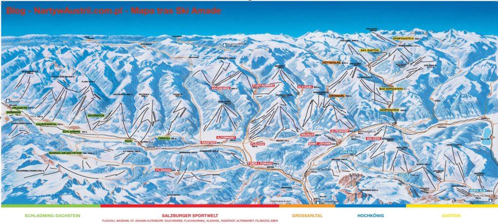 Ski Amade mapa tras