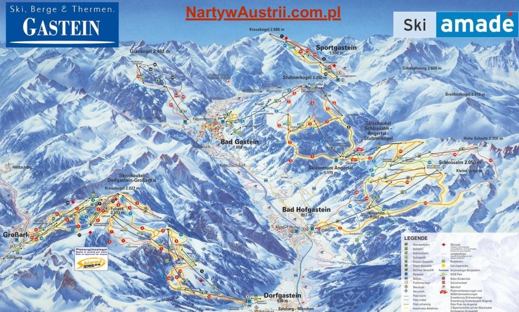 Mapa tras Bad Gastein