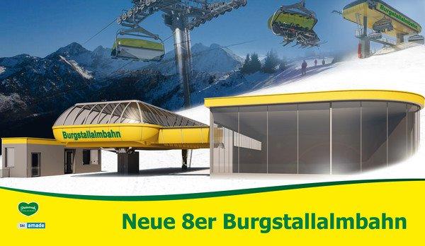 Nowa kolejka Burgstallalm - źródło planai.at