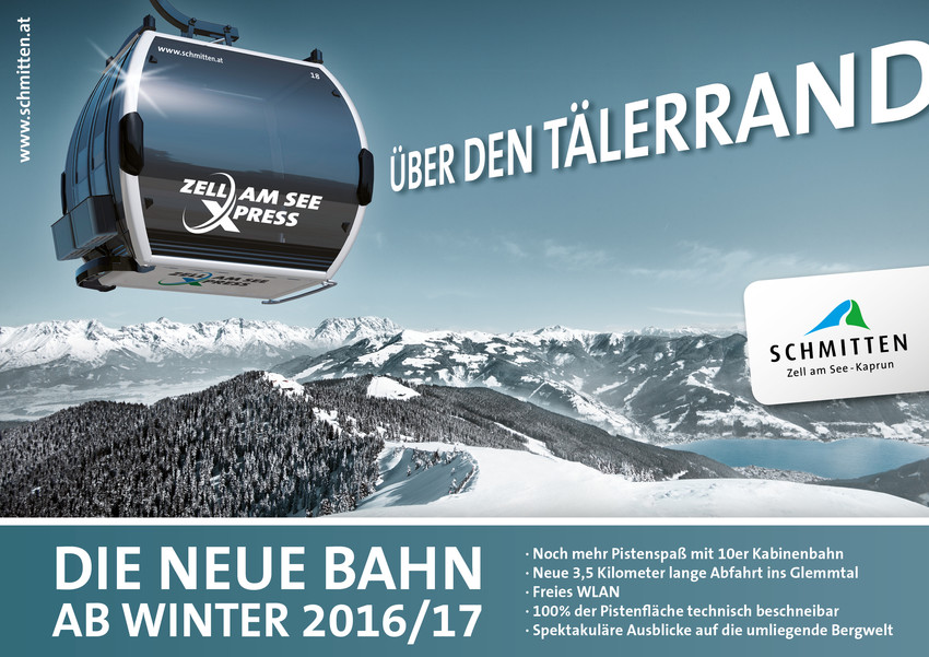 Nowa kolej z Zell am See - źródło: schmitten.at