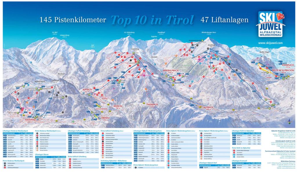Ski Juwel mapa tras