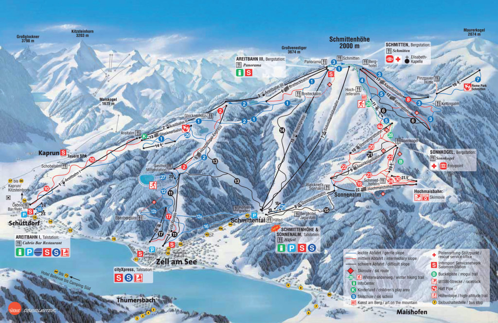 Zell am See - mapa tras