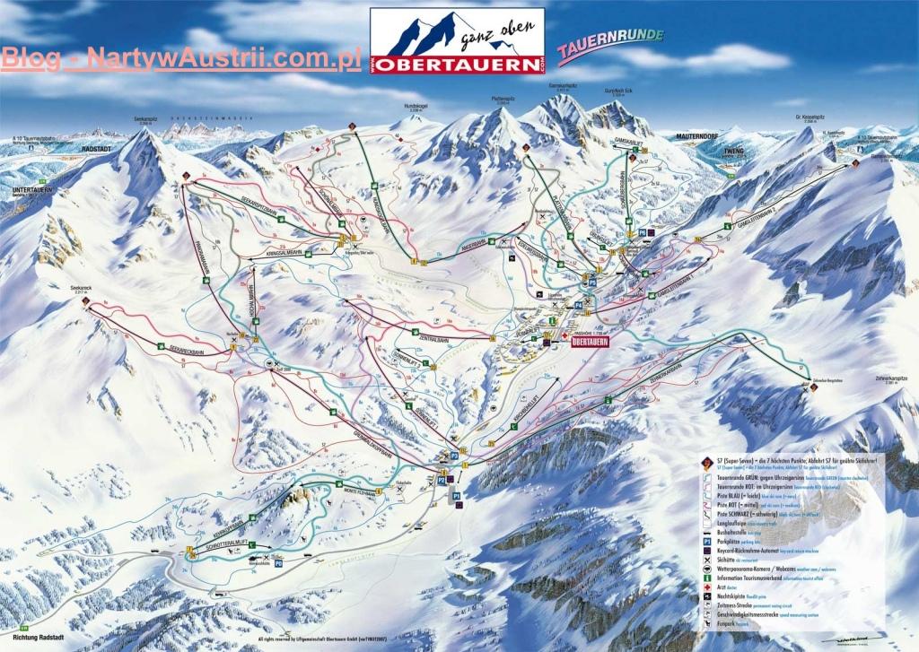 Obertauern - mapa tras