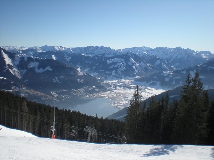 Widok na jezioro Zell am See