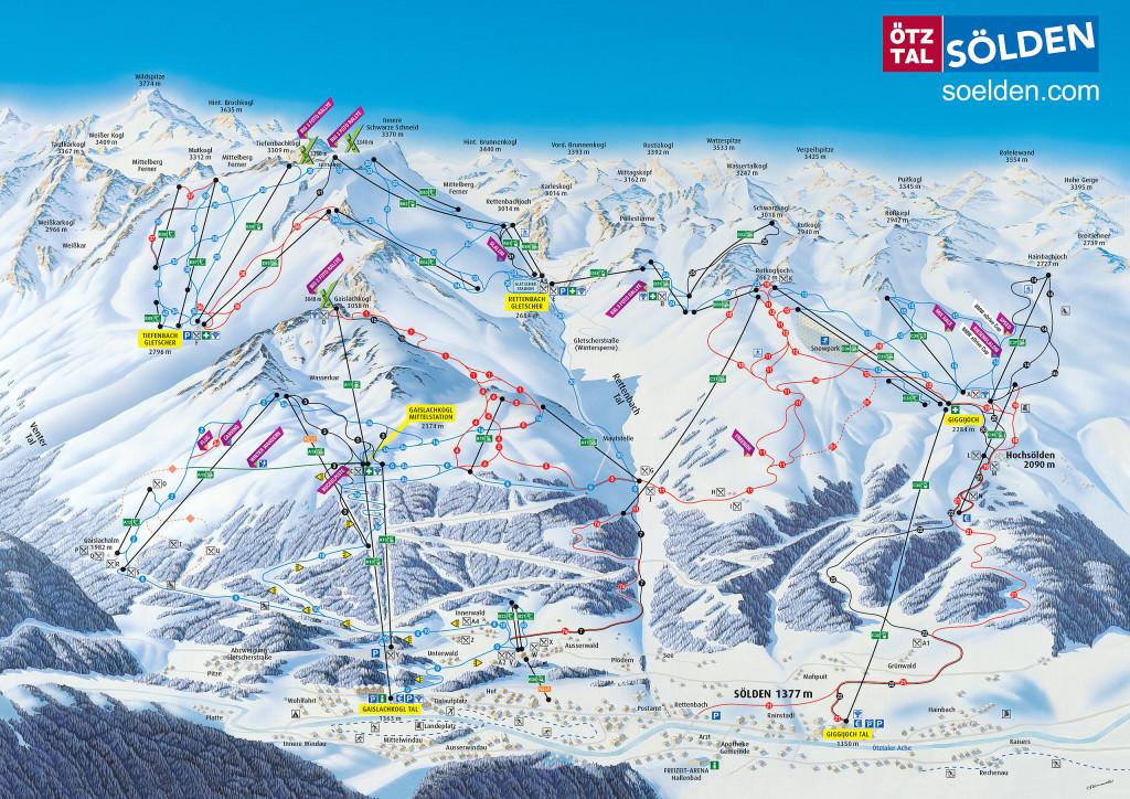 Mapa tras Solden