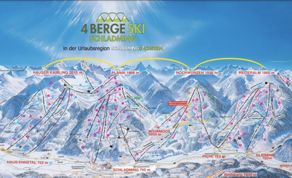 4 Berge mapa tras
